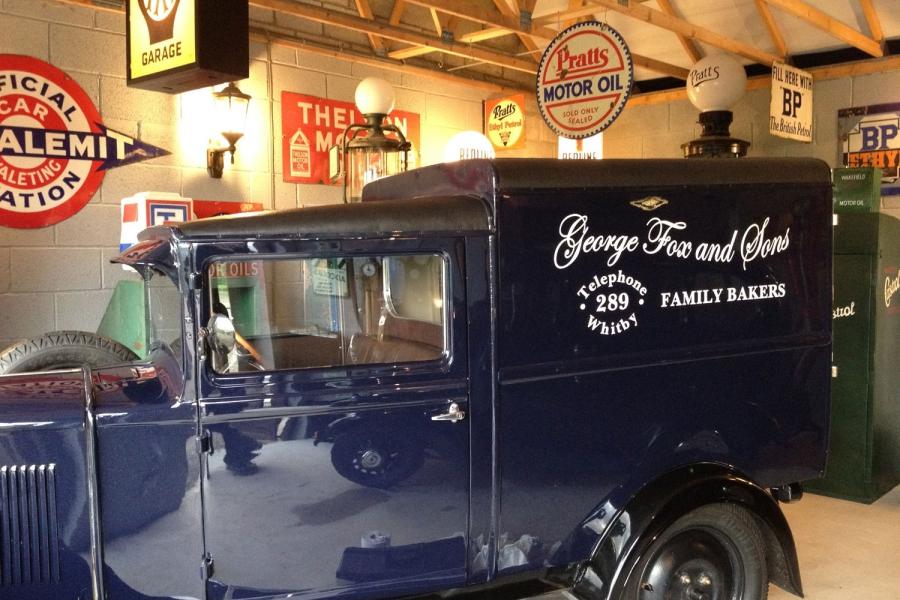 Vintage Petrol Pump Garage