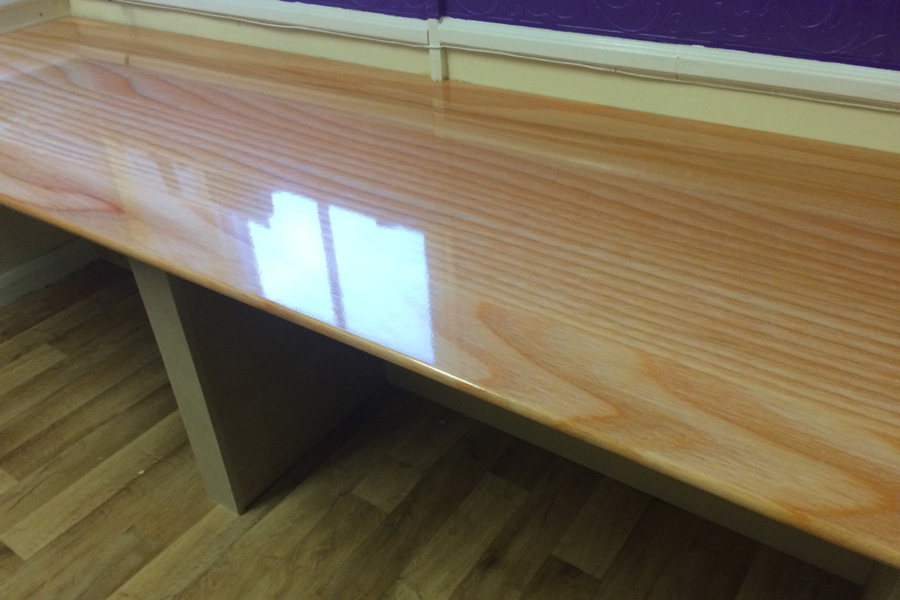 Polished Wood Desk